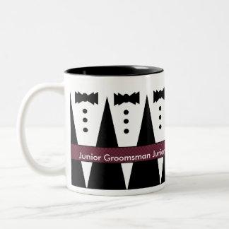 Junior Groomsman Mug - Black and White Tuxes