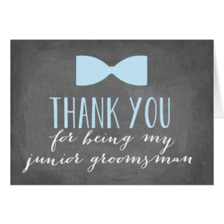 Junior Groomsman Thank You | Groomsman Note Card