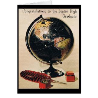 Junior High Graduation Greeting Card