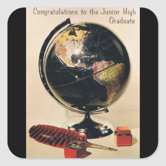 Junior High Graduation Square Sticker