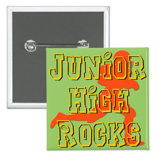 Junior High Rocks - Football Pinback Button