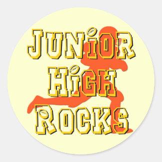 Junior High Rocks - Football Round Sticker