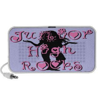 Junior High Rocks - Hearts Flowers Doodle iPhone Speaker