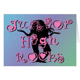Junior High Rocks - Hearts Flowers Greeting Card