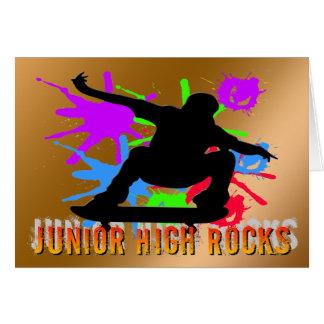 Junior High Rocks - Skateboarder Greeting Card