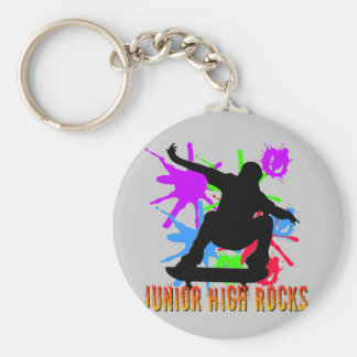Junior High Rocks - Skateboarder Keychain