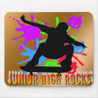 Junior High Rocks - Skateboarder Mousepads