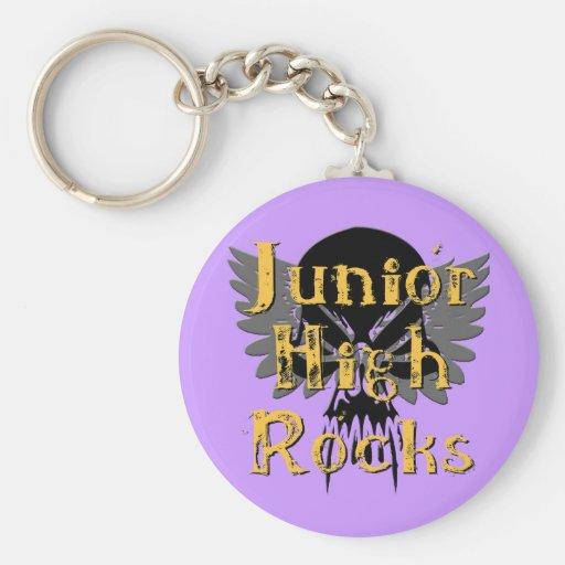 Junior High Rocks - Skull Wings Key Chain