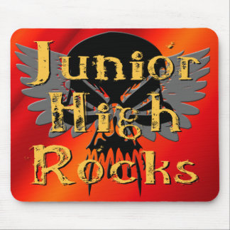 Junior High Rocks - Skull Wings Mouse Pad