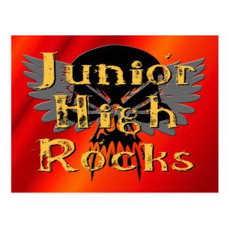 Junior High Rocks - Skull Wings Postcard