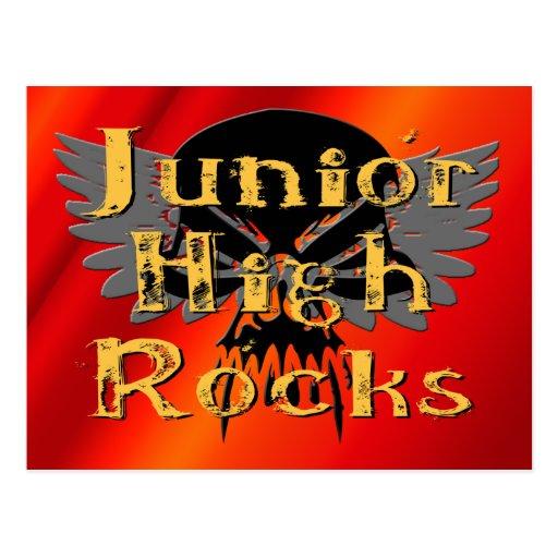 Junior High Rocks - Skull Wings Post Cards