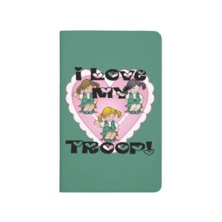 Junior I Love My Troop Heart Journals