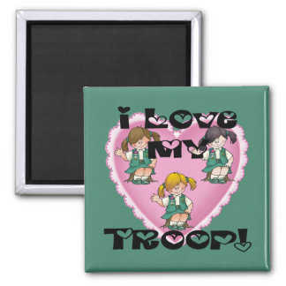 Junior I Love My Troop Heart Magnet