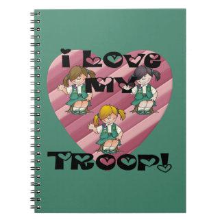 Junior I Love My Troop Heart Notebook