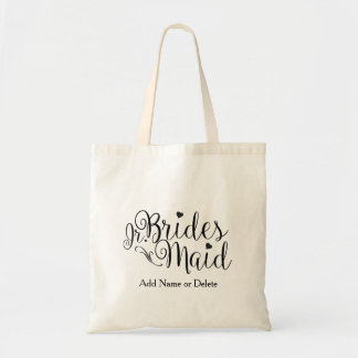Junior Jr. Bridesmaid Tote Budget Canvas Tote Bag