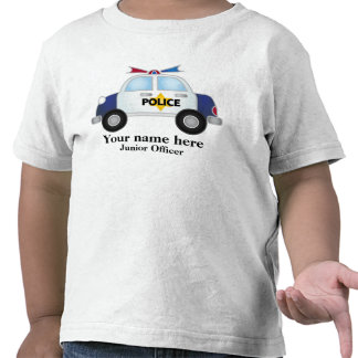Junior Officer Police Car t shirt T Shirts