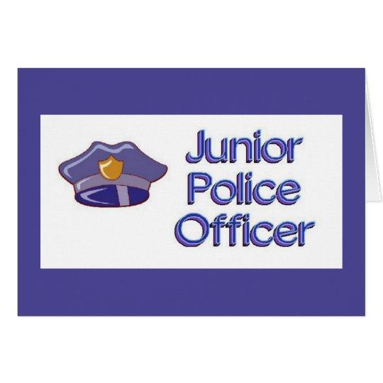 Junior Police Officer Baby Shower Card