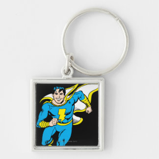 Junior Running Silver-Colored Square Keychain