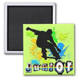 Junior - Skateboarding Square Magnet