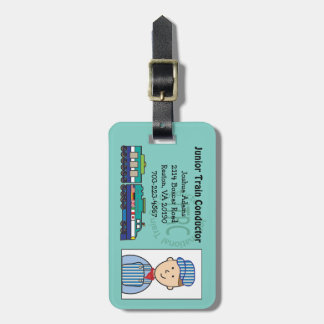 Junior Train Conductor Bag Tag
