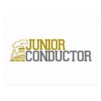 Junior Train Conductor Postcard