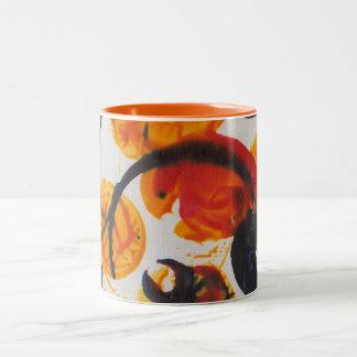 Juniper, Abstrat Art #1 Two-Tone Coffee Mug