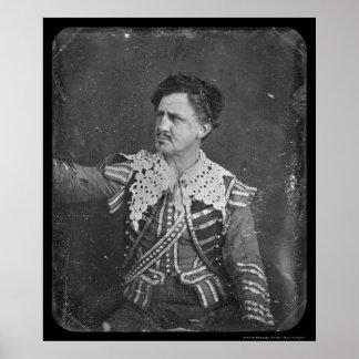 Junius Booth Daguerreotype 1850 Poster