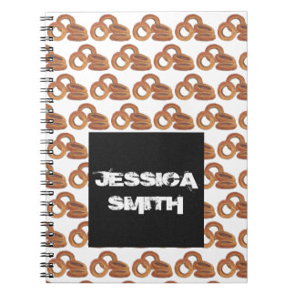 Junk Food Foodie Personalized Fried Onion Rings Notebooks