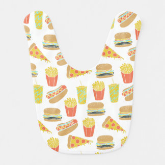 Junk Food - Hot Dogs Burgers Fries / Andrea Lauren Baby Bibs