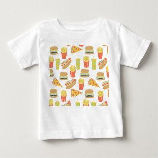 Junk Food - Hot Dogs Burgers Fries / Andrea Lauren Baby T-Shirt