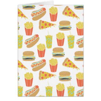 Junk Food - Hot Dogs Burgers Fries / Andrea Lauren Card