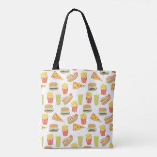 Junk Food - Hot Dogs Burgers Fries / Andrea Lauren Tote Bag