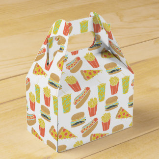 Junk Food - Hot Dogs Burgers Fries / Andrea Lauren Wedding Favor Box