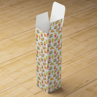 Junk Food - Hot Dogs Burgers Fries / Andrea Lauren Wine Gift Boxes