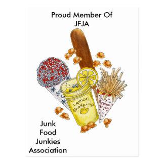 Junk Food Junkie! - Postcard