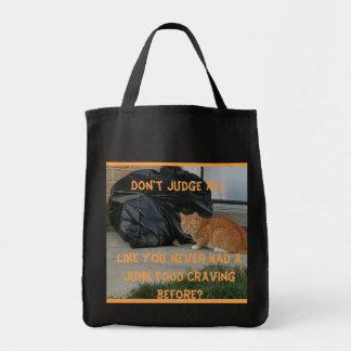 Junk Food Kitty-Shopping Bag