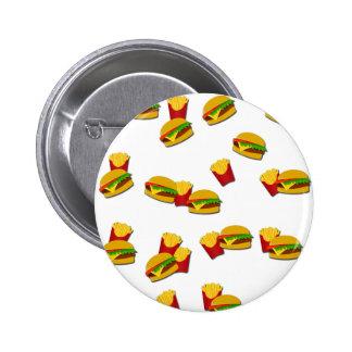 Junk food pattern 2 inch round button
