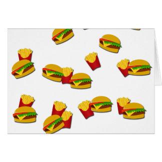 Junk food pattern card