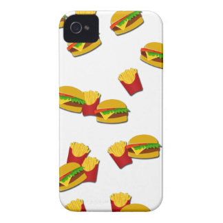 Junk food pattern iPhone 4 case