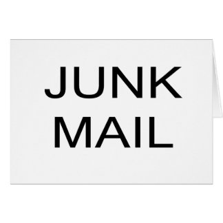 JUNK MAIL Greeting Card, envelopes included Card