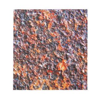 Junk Metal Rigid Brown Old Notepad