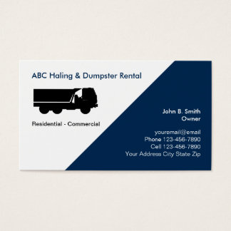 Junk Removal And Dumpster Business Cards