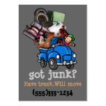 Junk Removal Hauling business promotion Large Business Card