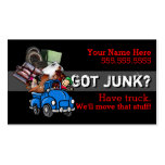 Junk removal.Hauling.Garbage.Promotional Business Card