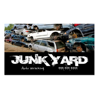 Junk Yard Auto Wrecking Removal Recycling Metal Business Card