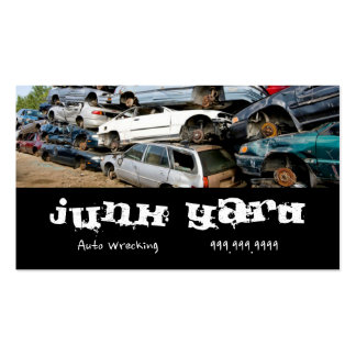 Junk Yard Auto Wrecking Removal Recycling Metal Pack Of Standard Business Cards
