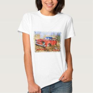 Junk Yard Memories Red Corvair Station Wag T Shirts