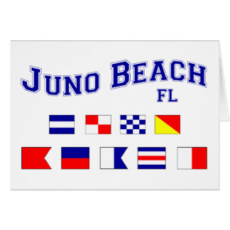 Juno Beach, FL - Nautical Flag Spelling Card