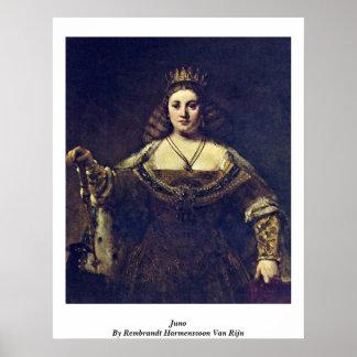 Juno By Rembrandt Harmenszoon Van Rijn Print