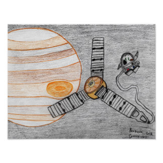 """Juno reaches Jupiter"" 16.00"" x 12.40"" Poster"